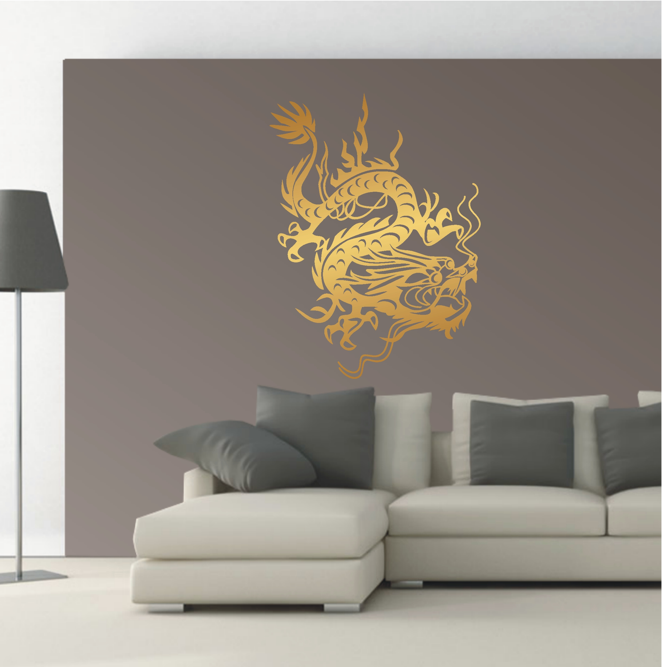 wandtattoo wandaufkleber china drache asia style feuerdrache ornament 298 xl ebay. Black Bedroom Furniture Sets. Home Design Ideas