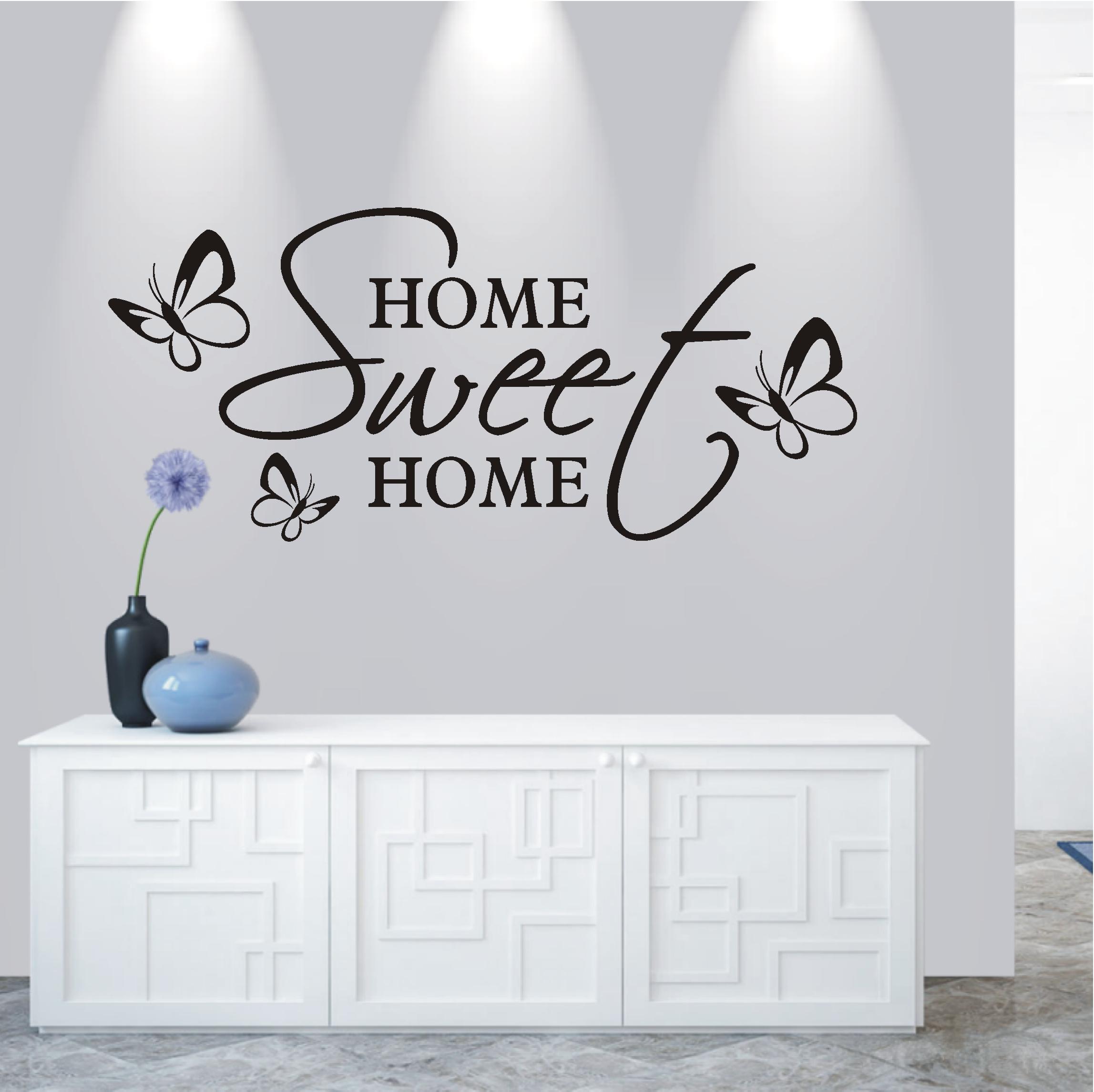 Spruch Welcome Sweet Home Wandtattoo Wandsticker Aufkleber Zitat Willkommen
