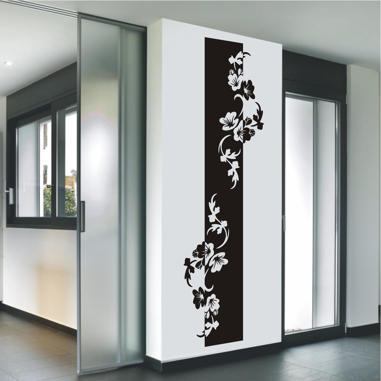 wandtattoo wandaufkleber banner bl ten blumenranke blumen. Black Bedroom Furniture Sets. Home Design Ideas