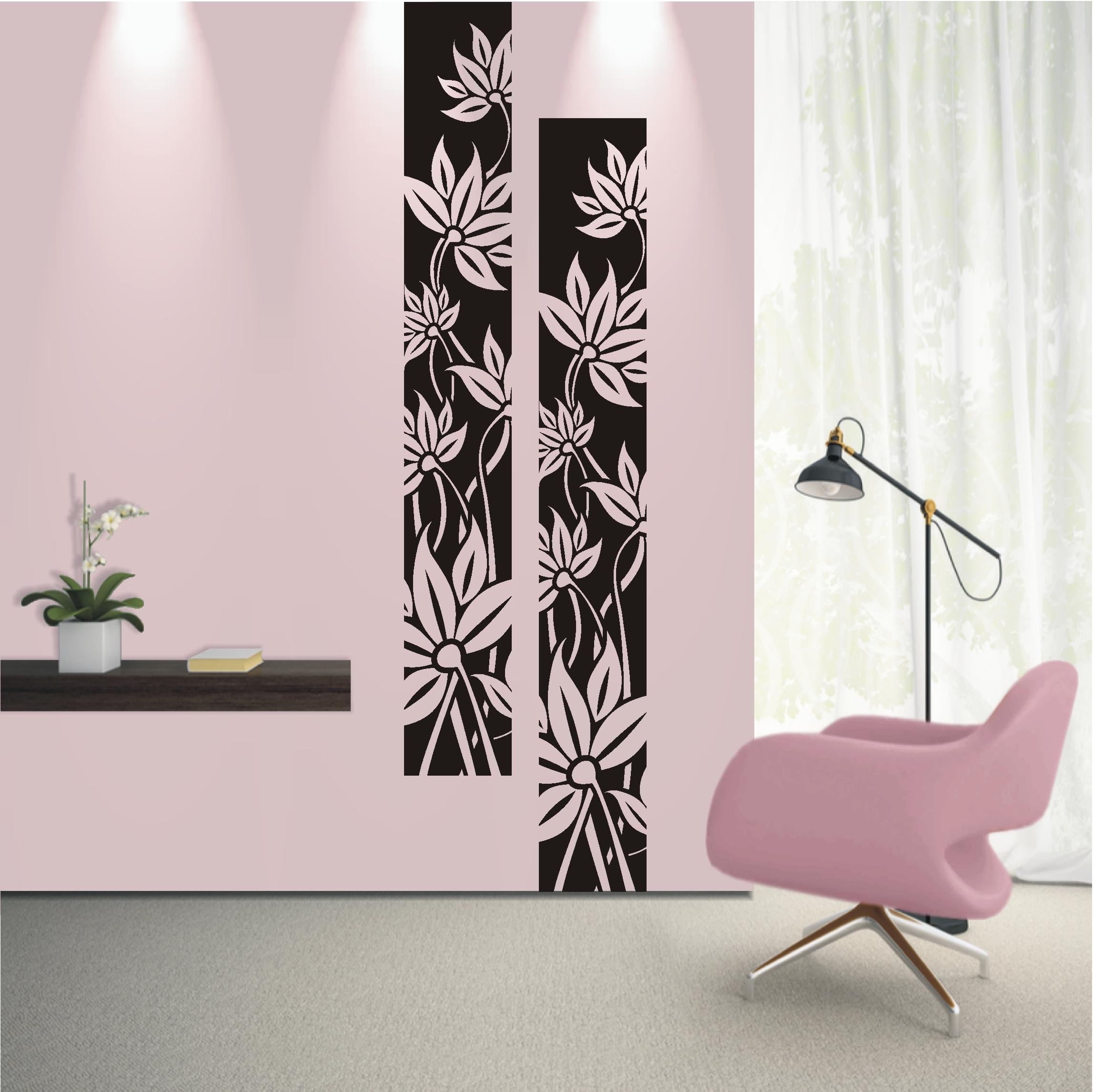 wandtattoo wandaufkleber blumen ranke banner bl ten pflanze wohnzimmer 501 xl ebay. Black Bedroom Furniture Sets. Home Design Ideas