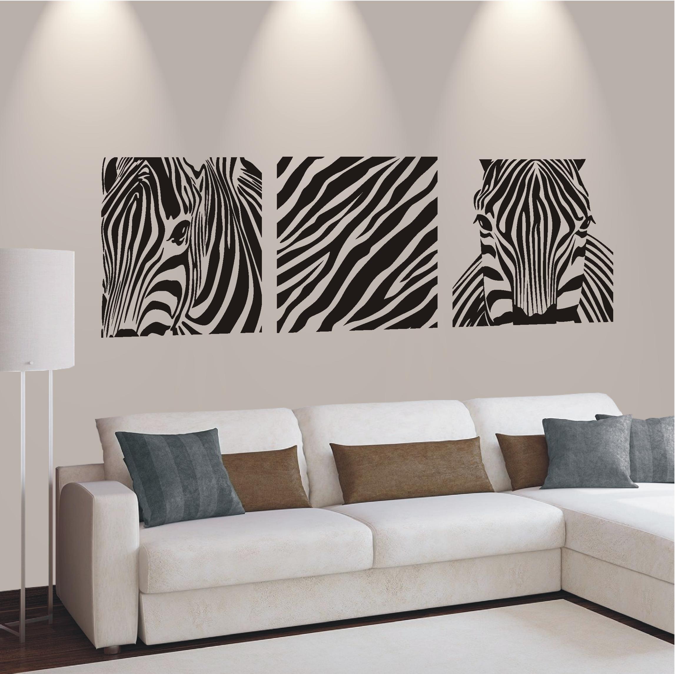 wandtattoo banner zebra safari animal afrika wohnzimmer flur neu motiv 607 ebay. Black Bedroom Furniture Sets. Home Design Ideas