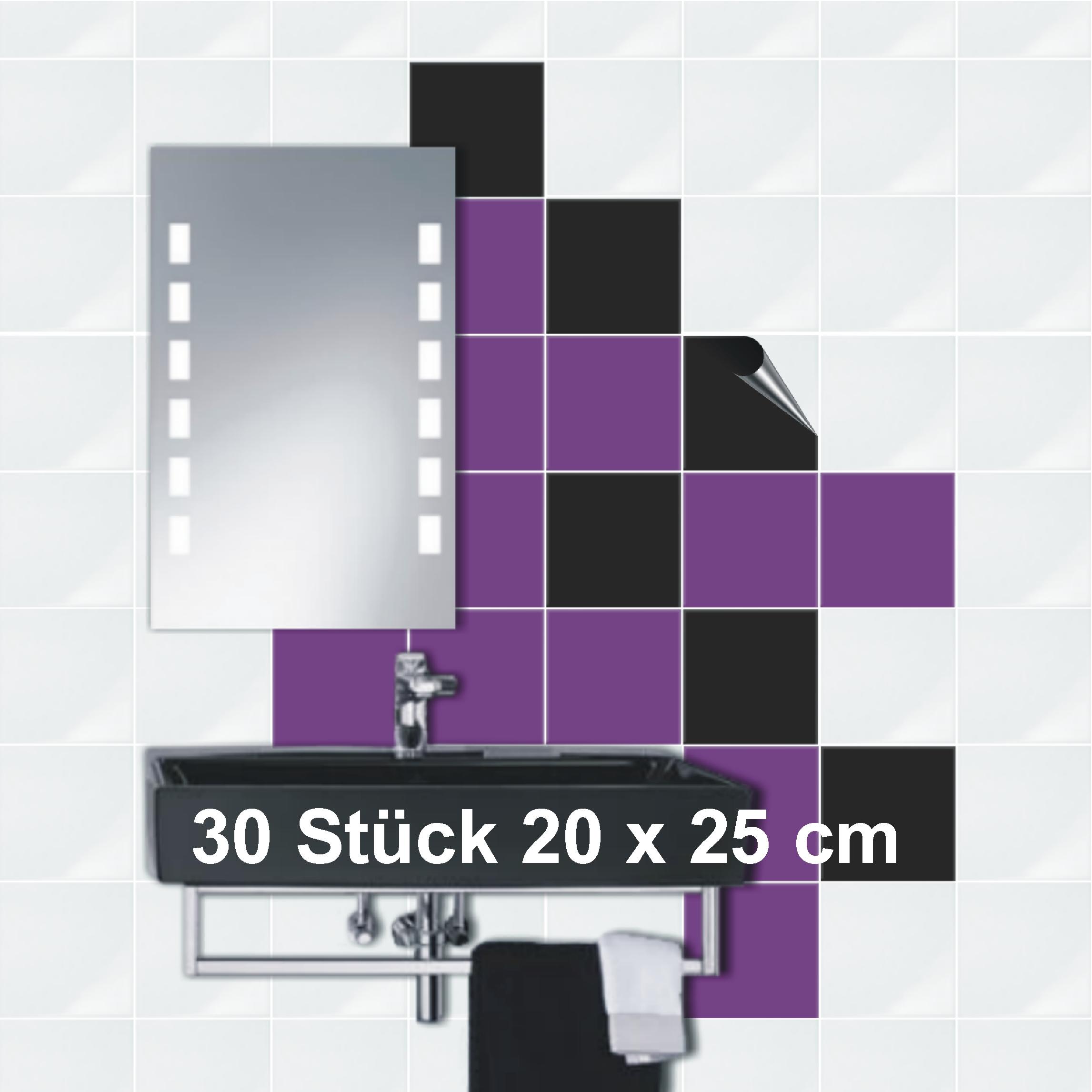 Badezimmer Fliesen 20 X 25: *Fliesenaufkleb Er *20 X 25* Küche*Bad*Fliesendekor